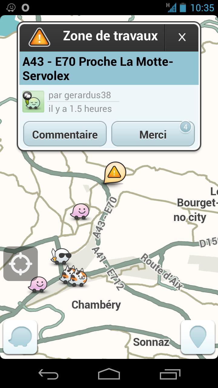 GPS communautaire Waze